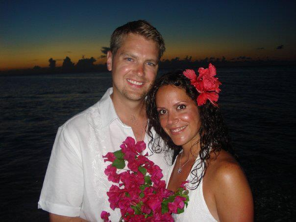 Brad and I at our wedding ceremony on Love Beach, in Nassau, Bahamas.